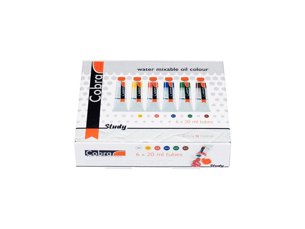 Sada Cobra Study 6 x 20 ml - H2Oil - vodouředitelné olejové barvy