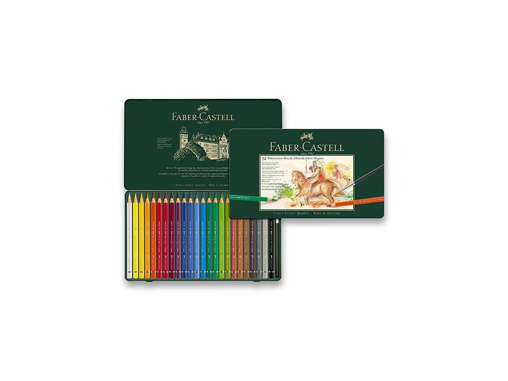 Akvarelové pastelky Faber-Castell Albrecht Dürer Magnus - plechová krabička, 24 barev