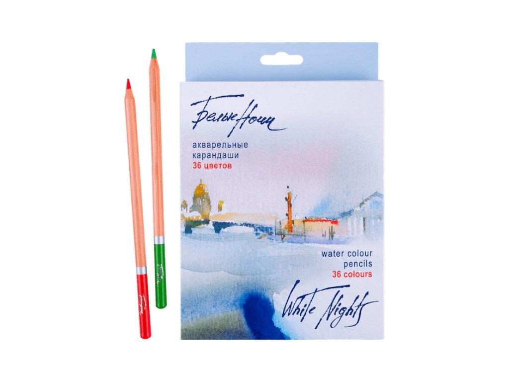 Akvarelové pastelky Nevskaya Palitra  - papírová krabička, 36  barev