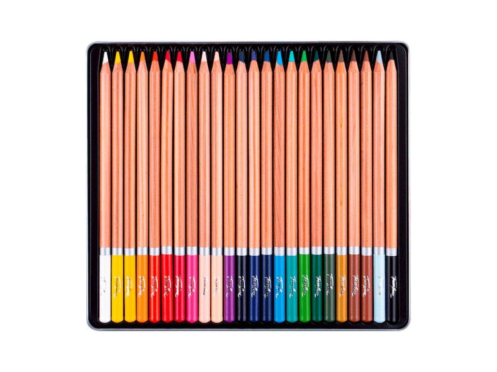 Akvarelové pastelky Nevskaya Palitra  - plechová krabička, 24  barev