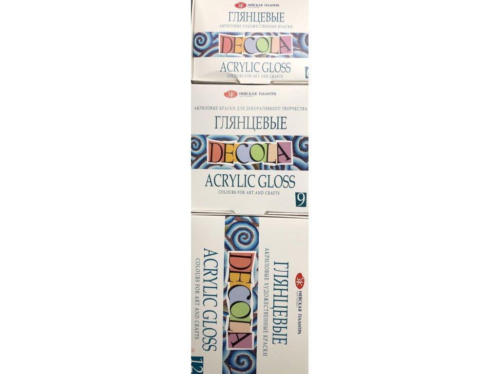 Akrylové barvy Decola lesklé 6, 9, 12 ks v balení