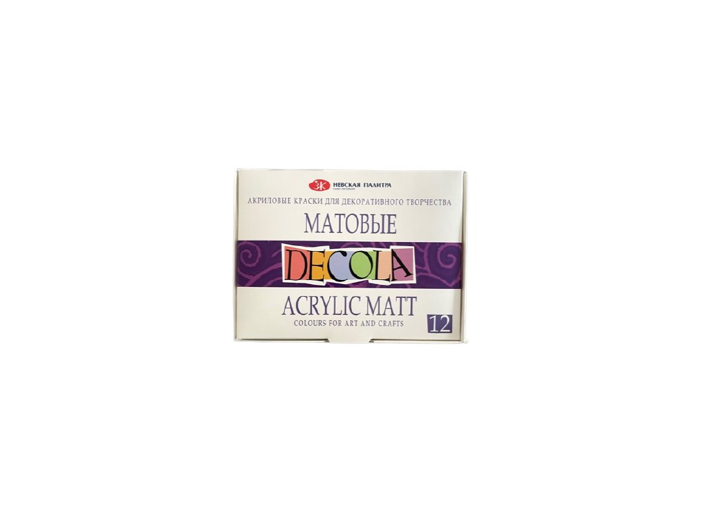 Akrylové barvy Decola matné 6, 9, 12 ks v balení