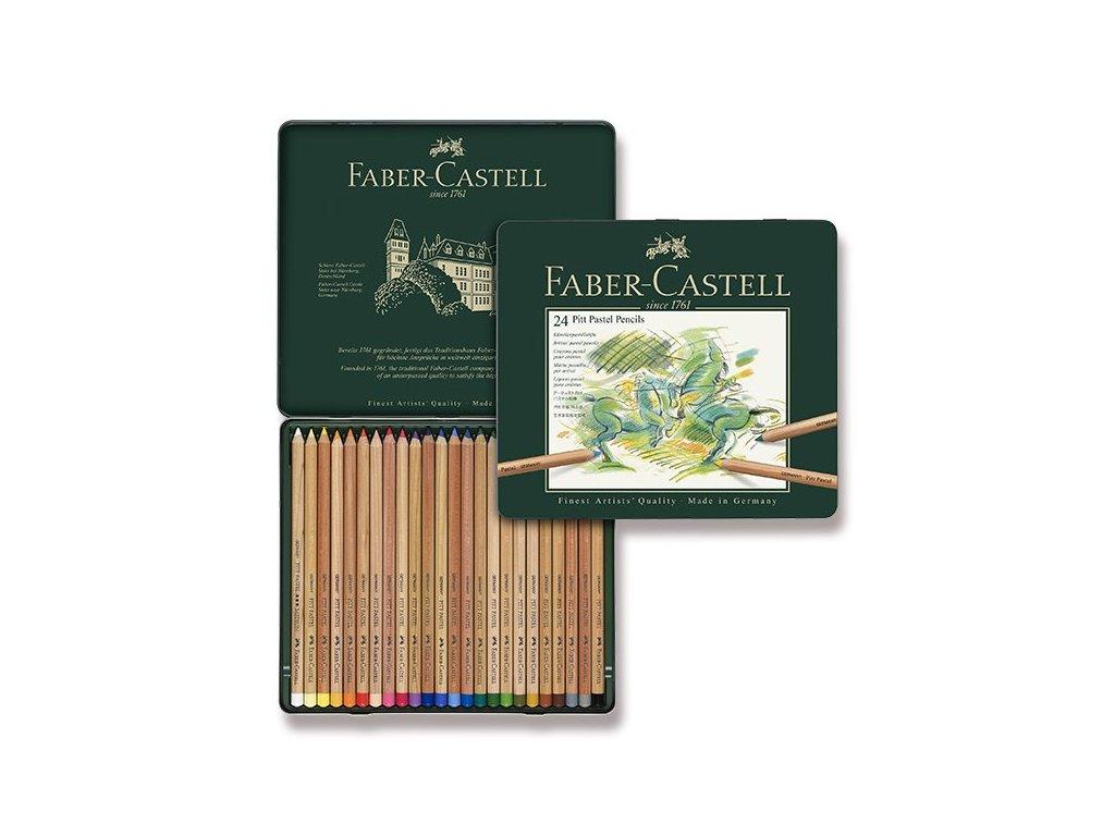 Umělecké pastely Faber-Castell Pitt Pastel - plechová krabička, 24 barev