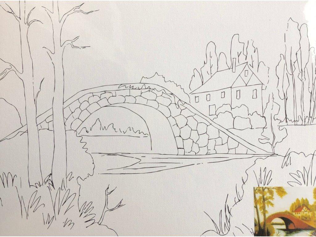 Plátno s motivem  - Most