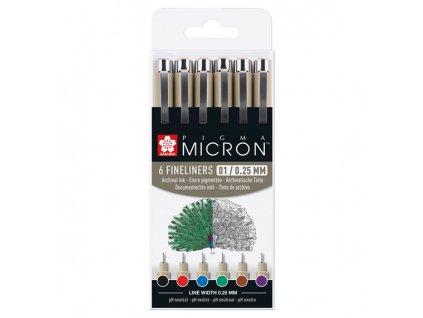 Sada barevných linerů Pigma Micron  6 kspoxsdk0163