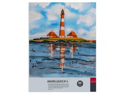 Akvarelový blok No.4 zn. Ami 300g/m² 24x32 cm