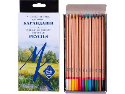 Sada uměleckých profi pastelek v papírové krabičce 12 ks Master class zn. Nevskaya Palitra.