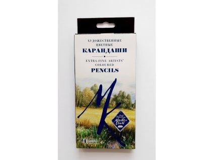 Sada uměleckých profi pastelek v papírové krabičce 24 ks Master class zn. Nevskaya Palitra