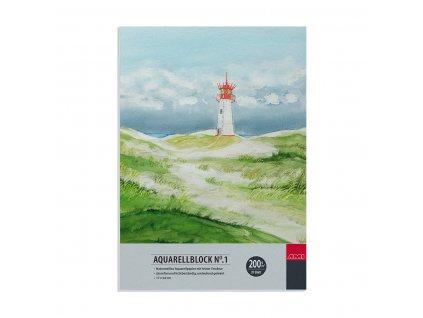 Přírodně bílý akvarelový blok zn. Ami, 200g, 17x24cm