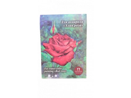 Akvarelový blok Palazzo - červená růže 200g/m² A4