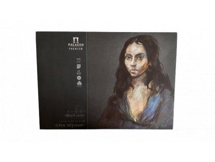 Blok Pastel černý - Black eyes - Palazzo - 40% bavlna - 160g/m² A3