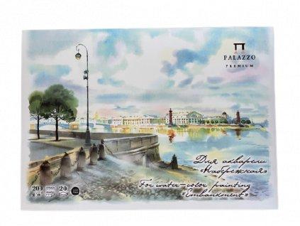 Akvarelový blok Palazzo 200g/m² A3  Nábřeží 20 listů