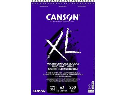 Blok XL MIX-MEDIA Canson 250g/m² - A4 hladký