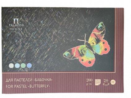 Blok na pastel barevný Palazzo - Motýl - 200g/m² 42 x 59 cm