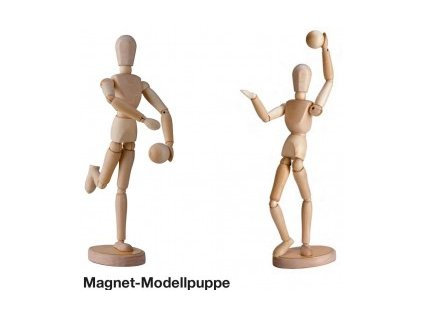 Dřevěný manekýn - 30 cm - možný i stoj na rukách