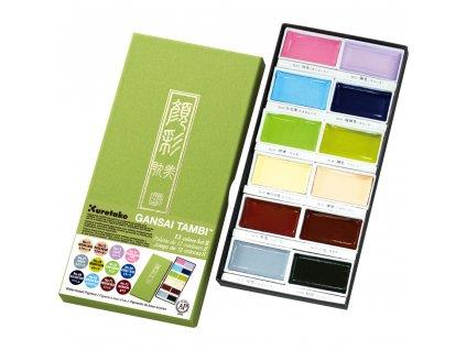 Gansai Tambi - Kuretake - pastelové - sada 18 ks v balení