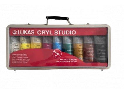 Akrylové barvy v kufříku 9 x 100 ml Lukas