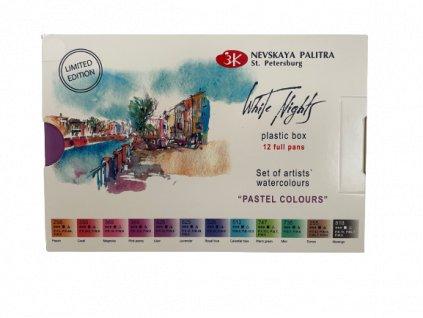 Akvarelové barvy  pastelové barvy set 12 ks zn Nevskaya Palitra