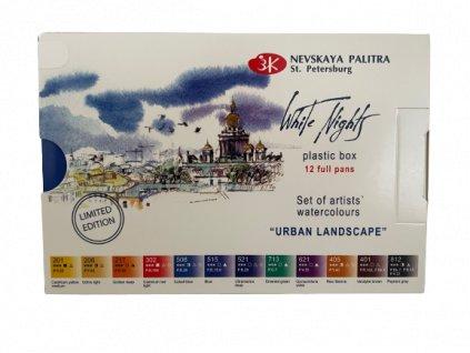Akvarelové barvy set 12 ks - urban landscapr zn Nevskaya Palitra