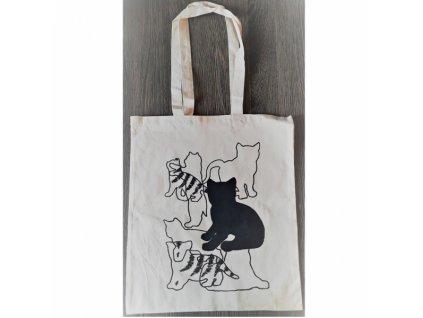 Taška EKO bavlna - Kočky a pruhy