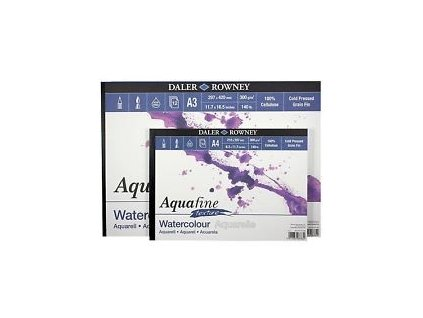 Blok akvarelový Aquafine textura 300g/m² - A4