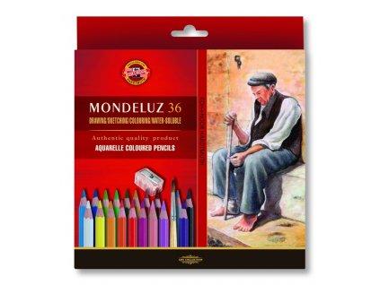Akvarelové pastelky ART-SET Mondeluz 36 ks + ořezávátko + 2 štětce