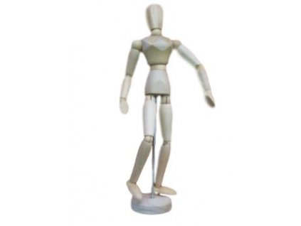 Dřevěný manekýn - žena  30 cm