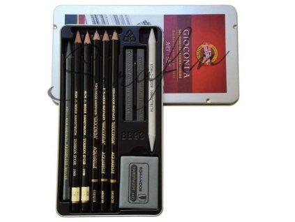 Kreslířská souprava KOH-I-NOOR v plechové kazetě