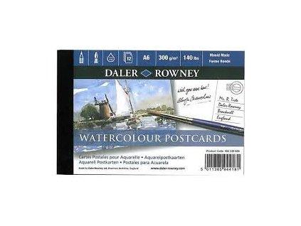 Pohlednice Daler-Rowney 12 ks - akvarelové kartony
