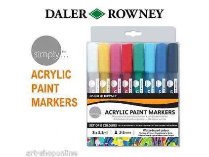 Daler-Rowney Acrylic Marker set S - Sady akrylových fixů 2-3mm