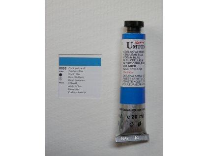 Olejová barva UMTON 20 ml - coelinová modř 33