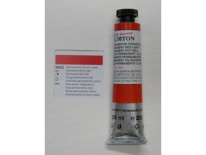 Olejová barva UMTON 20 ml - permanentní červeň světlá 55
