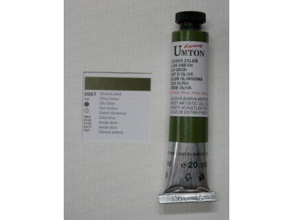 Olejová barva UMTON 20 ml - olivová zeleň 67