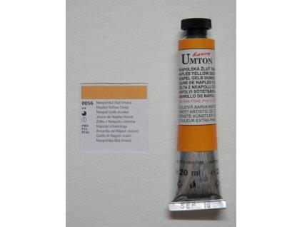 Olejová barva UMTON 20 ml - neapolská žluť tmavá 56