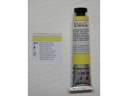 Olejová barva UMTON 20 ml - brilantní žluť světlá 62