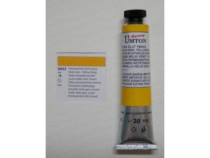 Olejová barva UMTON 20 ml - permanentní žluť tmavá 53