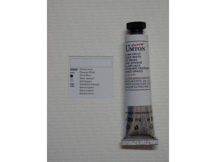 Olejová barva UMTON 20 ml - běloba krycí 09