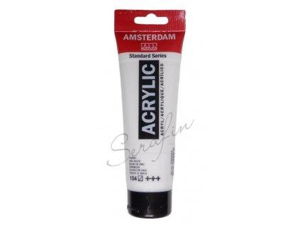 AMSTERDAM Akrylová barva 120 ml - zinc white 104