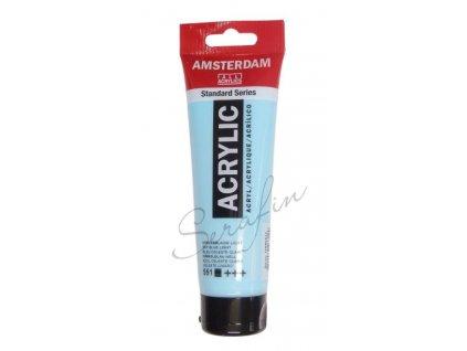 AMSTERDAM Akrylová barva 120 ml - sky blue light 551