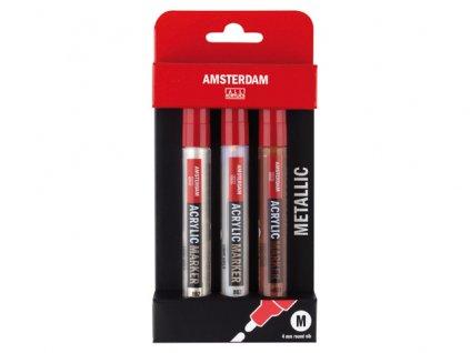 amsterdam acrylic markers metallic set 4mm 12800 p