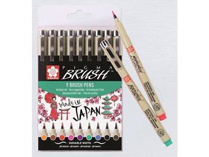 Sada uměleckých štětců - SAKURA Pigma Brush - 9ks