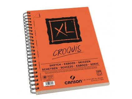 Blok XL - CROQUIS skicák - Canson 90g/m² - A4 (kroužková vazba na boku)