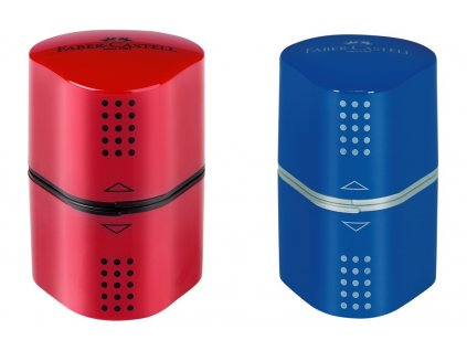 Ořezávátko Faber-Castell Trio GRIP červené/modré