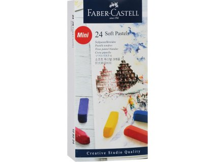 Sada soft pastelů Faber-Castell - 24ks mini