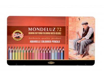 Akvarelové pastelky KOH-I-NOOR 72 ks v plech.kazetě