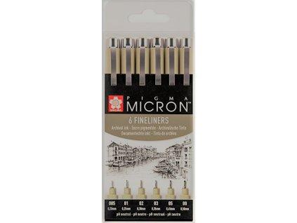 SAKURA PIGMA Micron pera set 6x (005,01,02,03,05,08) black