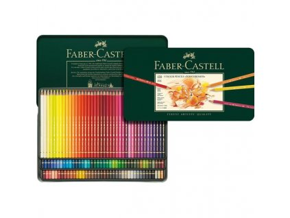 Sada 120 ks pastelek Polychromos Faber-Castell v plechovém pouzdře