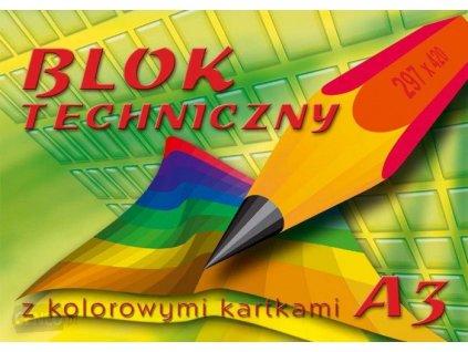 i blok techniczny kreska a3 170g m2 10 kartek kolor