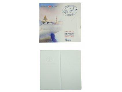 Sada PLENÉROVÝCH profesionálních akvarelových barev White nights - 12 ks