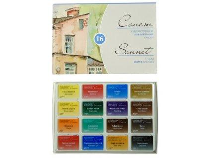 Sada studentských akvarelových barev Sonnet - 16 ks